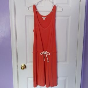 Banana Republic coral dress with rope-tie at waist